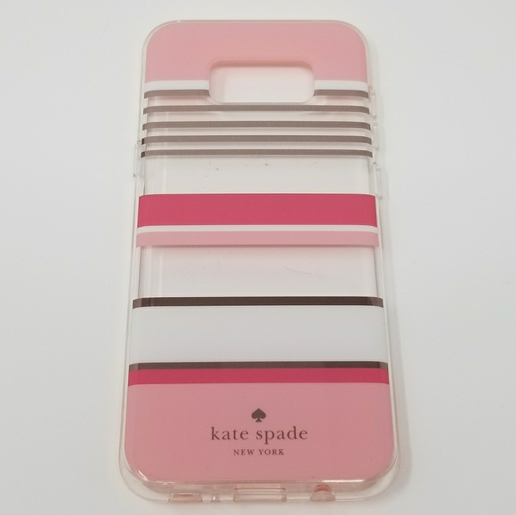 the latest 1854f aa982 Galaxy S8 Plus Kate Spade Clear Pink Stripe Case